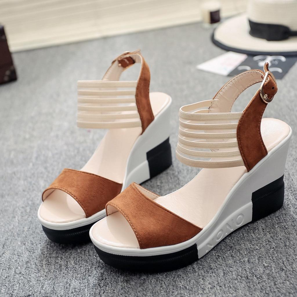 HTB1BDBraznuK1RkSmFPq6AuzFXaM new fashion Wedge women Shoes Casual Belt Buckle High Heel Shoes Fish Mouth Sandals 2019 luxury sandal women buty damskie