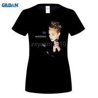 GILDAN Camisetas Ropa de Marca Remata camisetas Loco Top Tee Cuello Redondo Manga Corta de Verano para mujer Madonna Camiseta