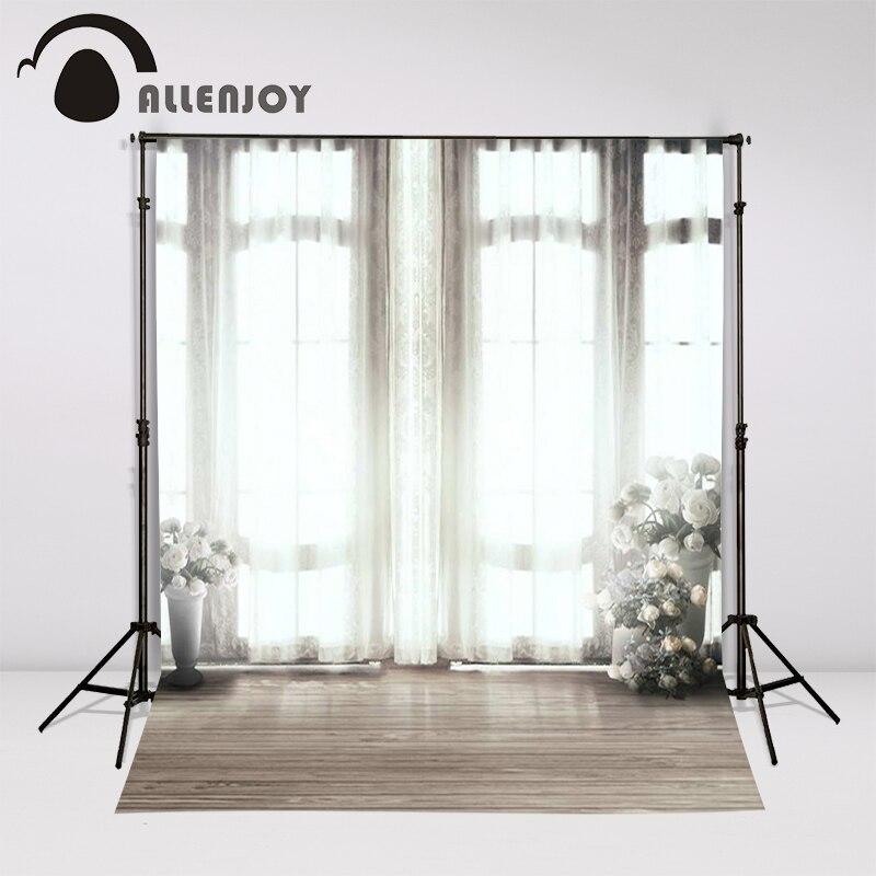 6.5ft x 10 ft hout Achtergrond Fotografie achtergronden gordijnen  vensterbank potten Studio Voor baby custom size indoor fotografie in 6.5ft  x 10 ft ...