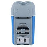 7.5 л Портативный мини-автомобиль круче и теплее отопление охлаждения 12 В электрический холодильник Путешествия Холодильник коробка с ремеш...
