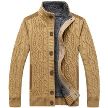 M-3XL!Spring And Autmn Basic Sweater Male Cardigan Sweater Stand Collar Thickening Turtleneck Sweater Men's Coat Men Sweaters