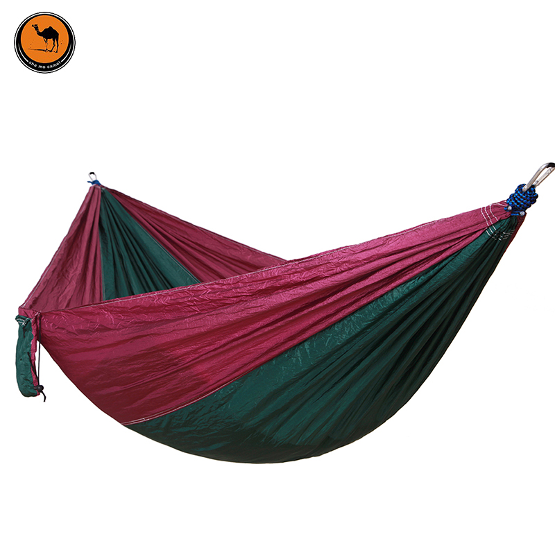 High Strength Camping Hammock Double Camp Hammock With Tree Rope (Deep purple+melted green) deep purple deep purple stormbringer 35th anniversary edition cd dvd