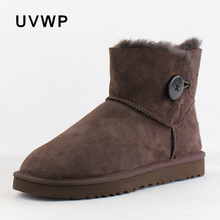 Top Quality Genuine Sheepskin Leather Winter Snow Boots Women Boots 100% Natural Fur Warm Wool Winter Boots Fashion Ankle Boots