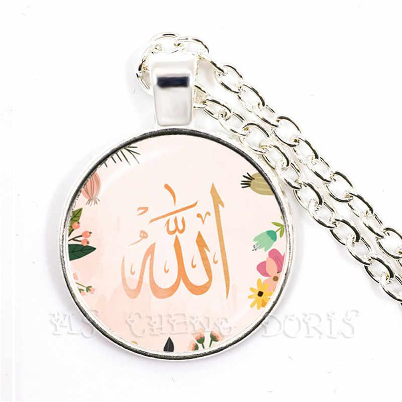 新ファッション男性女性アッラーイスラム宗教イスラム教徒のためのミドル Esat アラブ 25 ミリメートルガラスドームカボションジュエリーのための女性