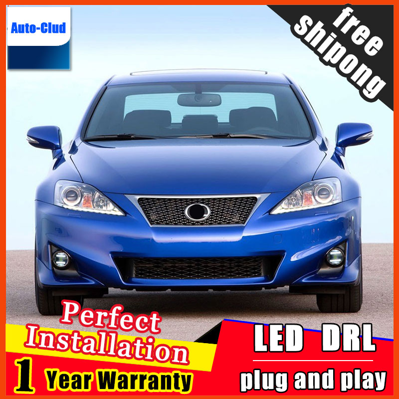 Car-styling LED Fog Light For Lexus IS250 IS350 2011 - 2015 LED Fog Lamp With Lens And LED Day Time Running Ligh DRL 2 function система освещения for all car 2 7w 18 led drl