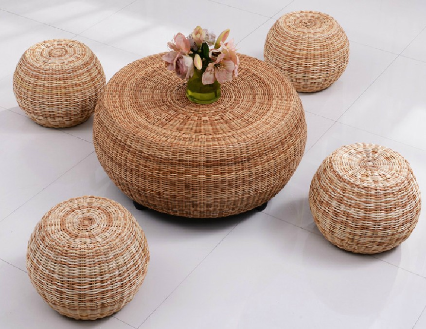 Round rattan coffee table corner a few colored dichroic rattan cane rattan furniture rattan wicker chair coffee table prepared r-in Coffee Tables from ... & Round rattan coffee table corner a few colored dichroic rattan cane ...