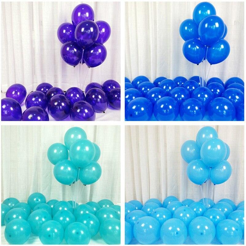5pcs 12inch 5inch Blue Ballon New Year Decoration 2019 Ballon Decorations Birthday Balons Party Baby Shower Boy Hot Air Balloons