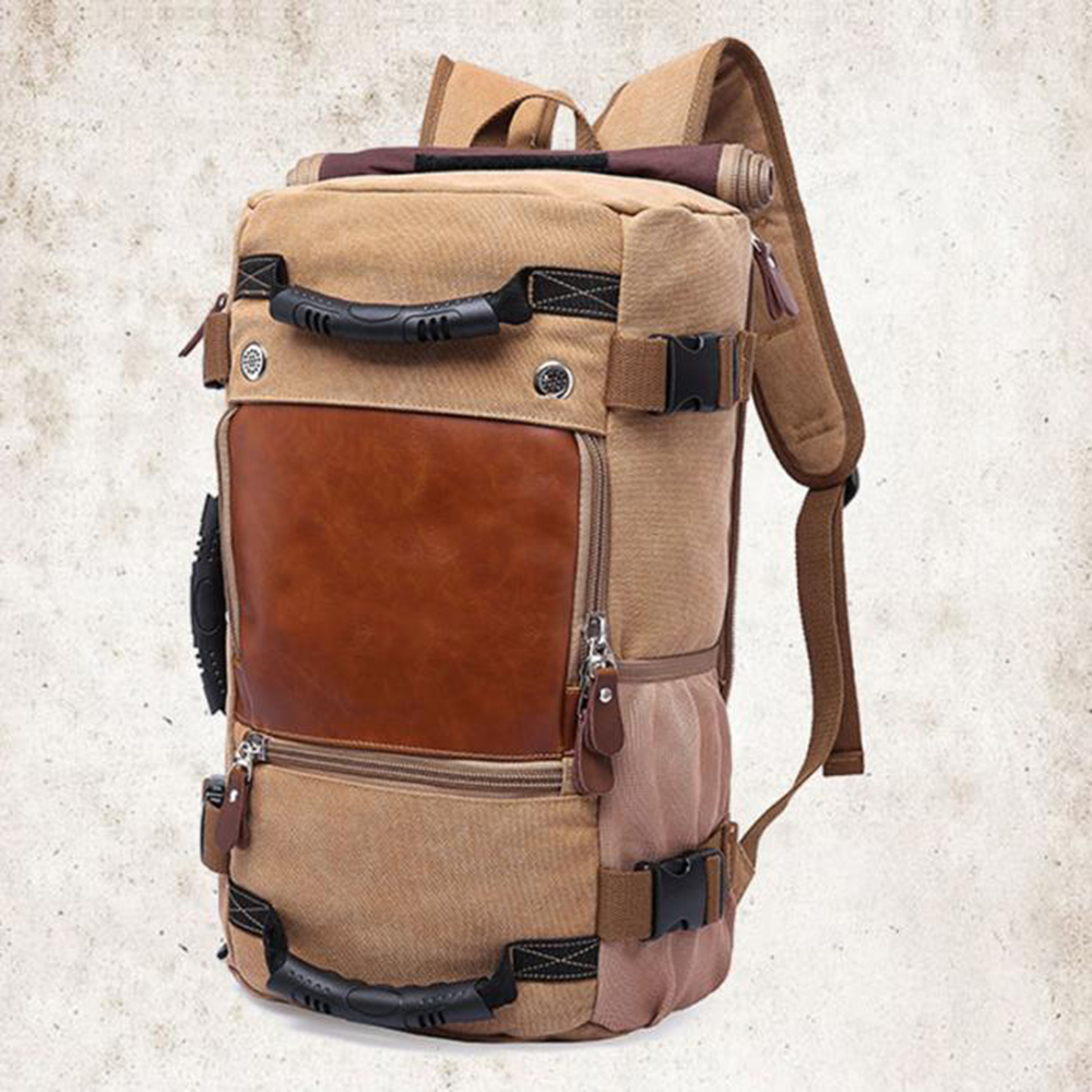 Large Capacity Backpacks Man Travel Bag Mountaineering Backpack Men Bags Canvas Bucket Shoulder Bag Male Canvas BackpacksLarge Capacity Backpacks Man Travel Bag Mountaineering Backpack Men Bags Canvas Bucket Shoulder Bag Male Canvas Backpacks