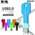 Suntrsi pendrive usb flash drive de 64 gb chave 32 gb logotipo personalizado caneta Metal de Alta Velocidade USB Stick Flash USB Real Capacidade de 16 GB