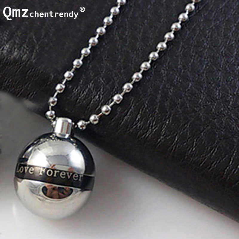 316L Stainless Steel ' Love forever ' Letter  Ball Pendants Necklaces Cremation  funeral Ashes Urns Memorial Openable jewelry