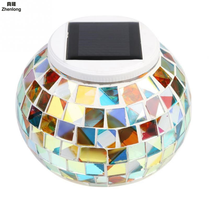 Mosaic Glass Outdoor Solar Power Ball Garden Stake Color Changing Lawn LED Light Waterproof IP44 Gift RGB LED Green Light new matrix foundation workbook