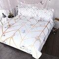 Комплект постельного белья HM Life с мраморной текстурой  черный  белый  золотой пододеяльник  комплект из 3 предметов  стильное покрывало для к...