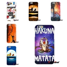 For Huawei G7 G8 P8 P9 Lite Honor 5X 5C 6X Mate 7 8 9 Y3 Y5 Y6 II Hakuna Matata Lion King Artwork Silicone Soft Phone Case