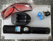Best Buy high power power military blue laser pointers 20000mw 20w 450nm burning match/dry wood/candle/black/cigarettes+glasses+gift box