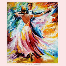 Handmade High Quality Modern Wall Art Dancers Palette Knife Oil Painting Decoration On Canvas – Intl