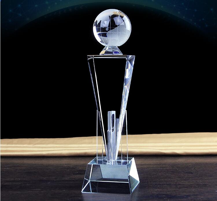 High quality!Personalized Crystal trophy with sports theme awards wholesale,Free Shipping! trophy