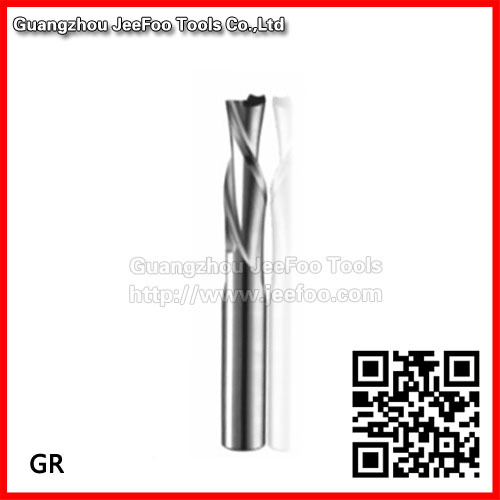 6 17mm Flush Trim Solid Carbide Two Flutes Spiral Down Cut Router