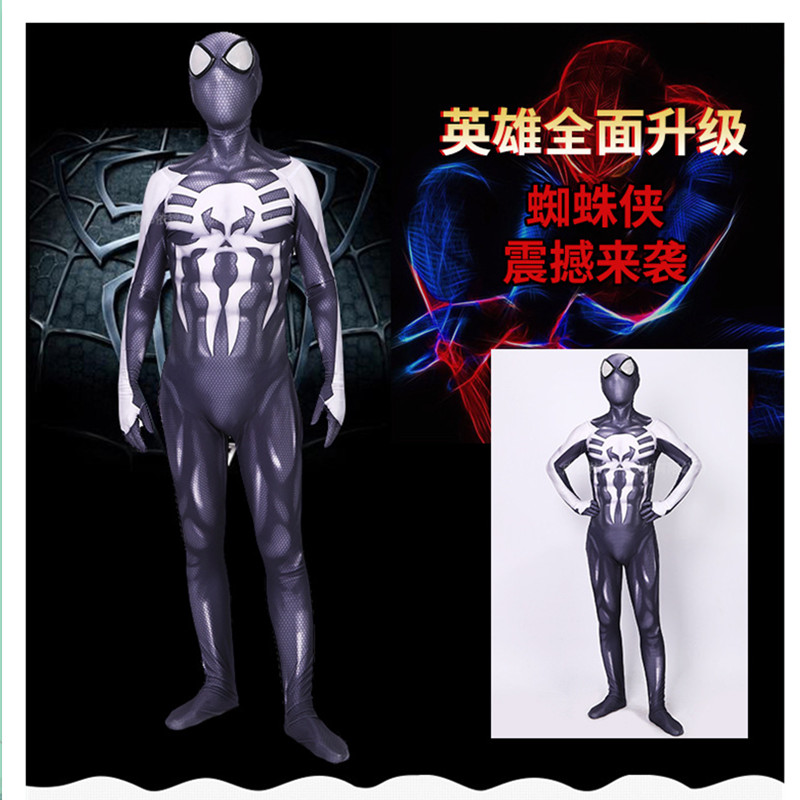Spider-Man 2099 Miguel O'Hara cosplay Super hero Spiderman Costumes Fullbody Zentai Suit Adult man Jumpsuit Long Sleeve Rompers