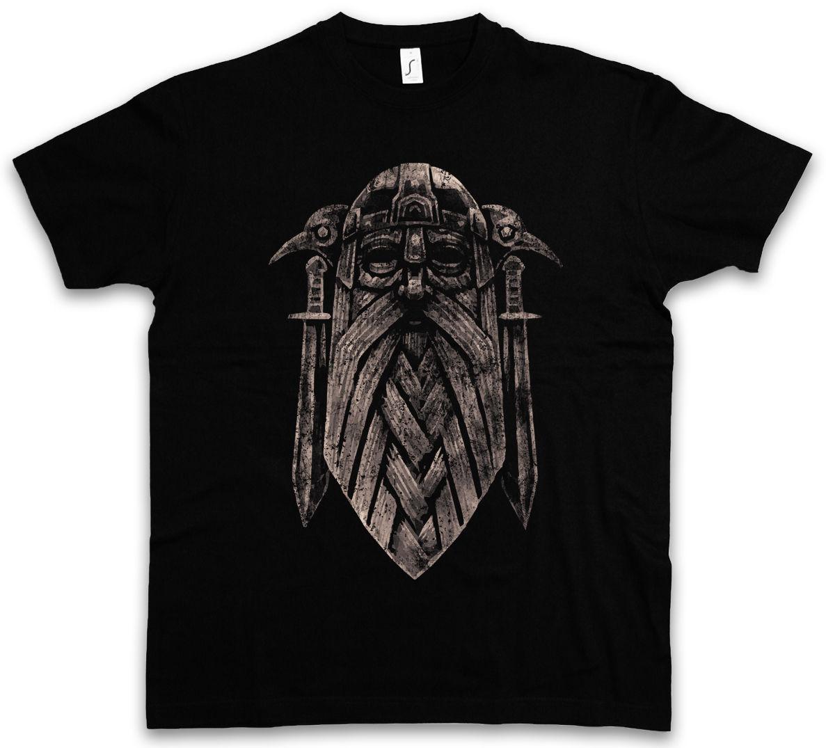 ODHIN IX T-SHIRT Valhalla Norse Vikings Odhin Odin Thor German Norse God 100% Cotton Short Sleeve Summer T-Shirt