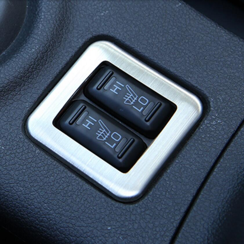 Auto styling edelstahl innen sitzheizung taste geändert trim ...