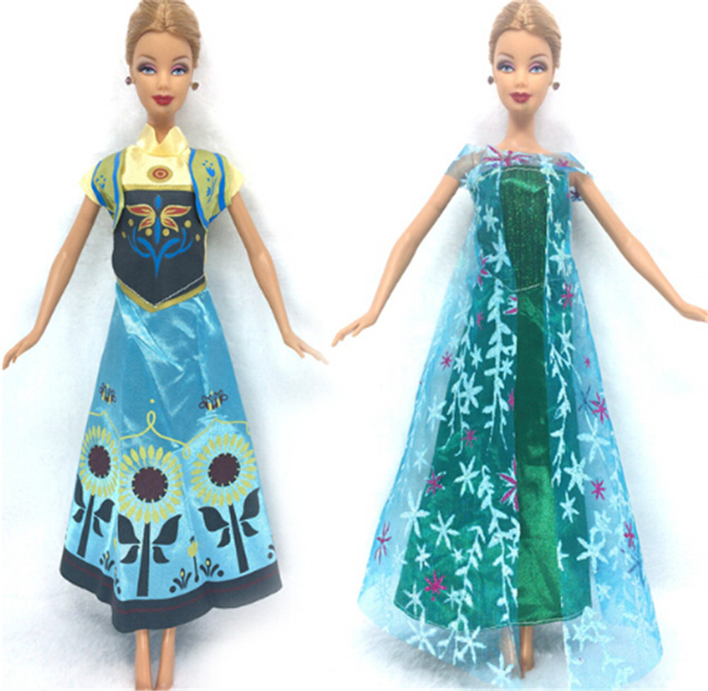 1 PC Baby Kid Two Set Princess Doll Similar Dress Fairy Tale Wedding Dress For Doll