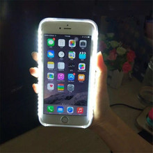 SOKELY Phone Case For iPhone XR XSMAX Flash Selfie Light Up Glowing Luxury Phone Case For  IphoneX iPhone 6 7 8 plus Cover цены