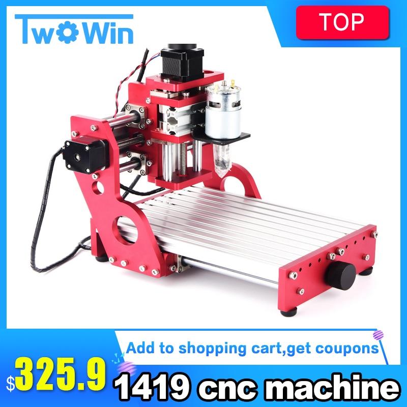 CNC 1419, Machine de CNC, découpeuse de gravure en métal, découpeuse en aluminium de carte pcb de pvc en bois de cuivre, routeur de CNC