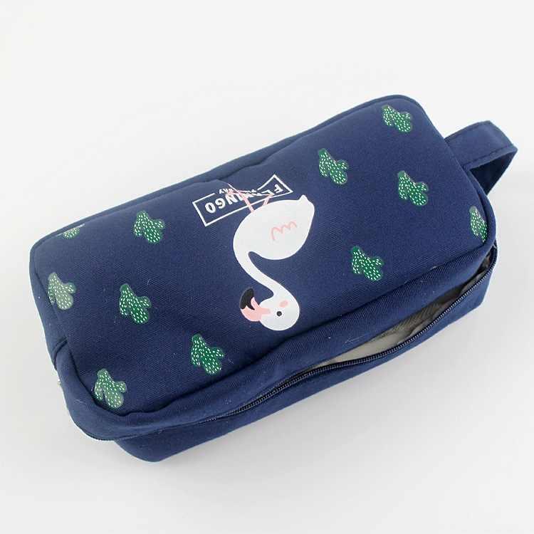 Симпатичные Фламинго тканевый пенал школьные принадлежности кавайи канцелярские подарок пенал для карандашей Школьные Инструменты Офис девушка