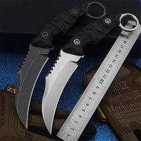 2020 novo frete grátis d2 aço ao ar livre faca tática auto-defesa sobrevivência selvagem acampamento facas de caça alta dureza