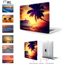 MTT Seascape Case Cover For Macbook Pro 13.3 15.4 Touch Bar 2016 2017 Air 11 13 For Macbook Pro Retina 12 13 15 inch Laptop Case