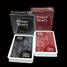 Plastic Playing Card Game Texas hold'em Poker Cards Waterproof And Dull Polish Poker Star Zakka Board Games Color Black&Red