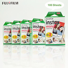 100 Sheets Fujifilm Fuji Instax Mini White Film Instant Photo Paper For Instax Mini 9 8 7S 70 90 25 Camera SP 2 SP 1 + Free Gift