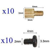 10x Standoffs (3x3mm) and Screws for Board Mount CCTV AHD TVI CVI 1080P IP WIFI IR Cameras