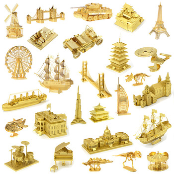 3D DIY metal Jigsaw Puzzle Toys  1