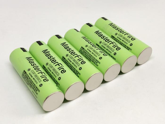 MasterFire 10pcs/lot New Original CGR18650CG 18650 3.7V 2250mAh Rechargeable Battery Lithium Batteries For Panasonic