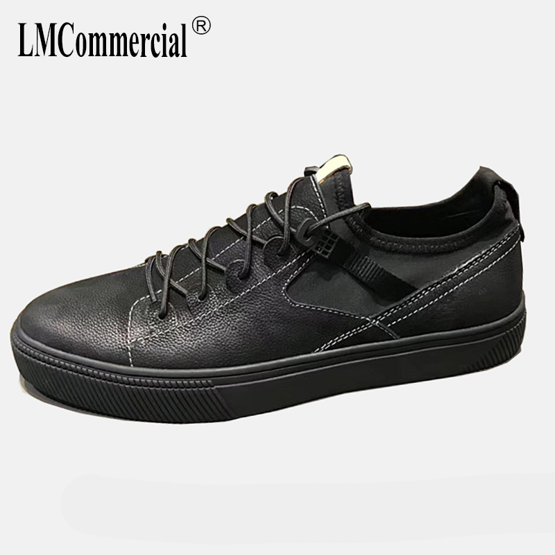 2018 spring summer new British retro men's shoes all-match cowhide casual shoes men Genuine Leather breathable sneaker male m genreal 2017 new women white shoes all match summer breathable leather shoes vulcanized casual shoes candy color lace 35 39