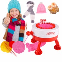 Mini Hand Knitting Machine Weaving Loom knit for Scraf Hat Children Educational Learning Toy DIY Knitting Machine