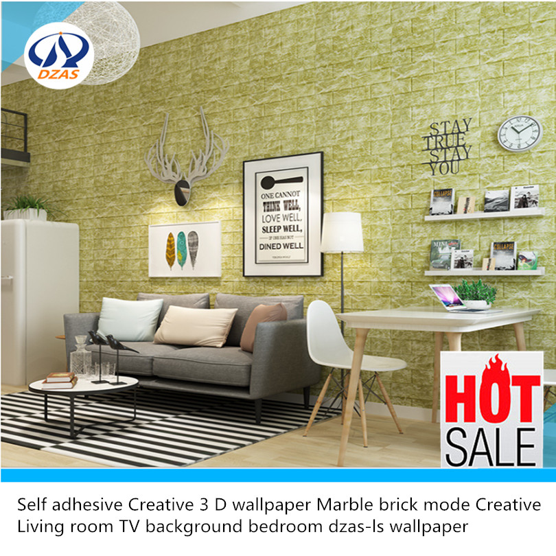 Self adhesive Creative 3 D wallpaper Marble brick mode Creative Living room TV background bedroom dzas-ls wallpaper 3d wall stickers creative tv background bedroom decoration stickers brick wallpaper living room wallpaper self adhesive 41
