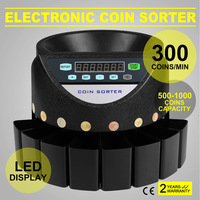 COUNTING SORTING OF EURO COINS Automatic Electronic Money Sorter and Coin Counter Cash Currency Counting Machine for Euro Coins