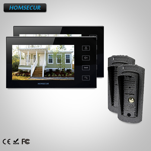 HOMSECUR 7 Video Door Entry Phone Call System+Metal Case Camera for House/Flat: TC041 Camera+TM704-B Monitor