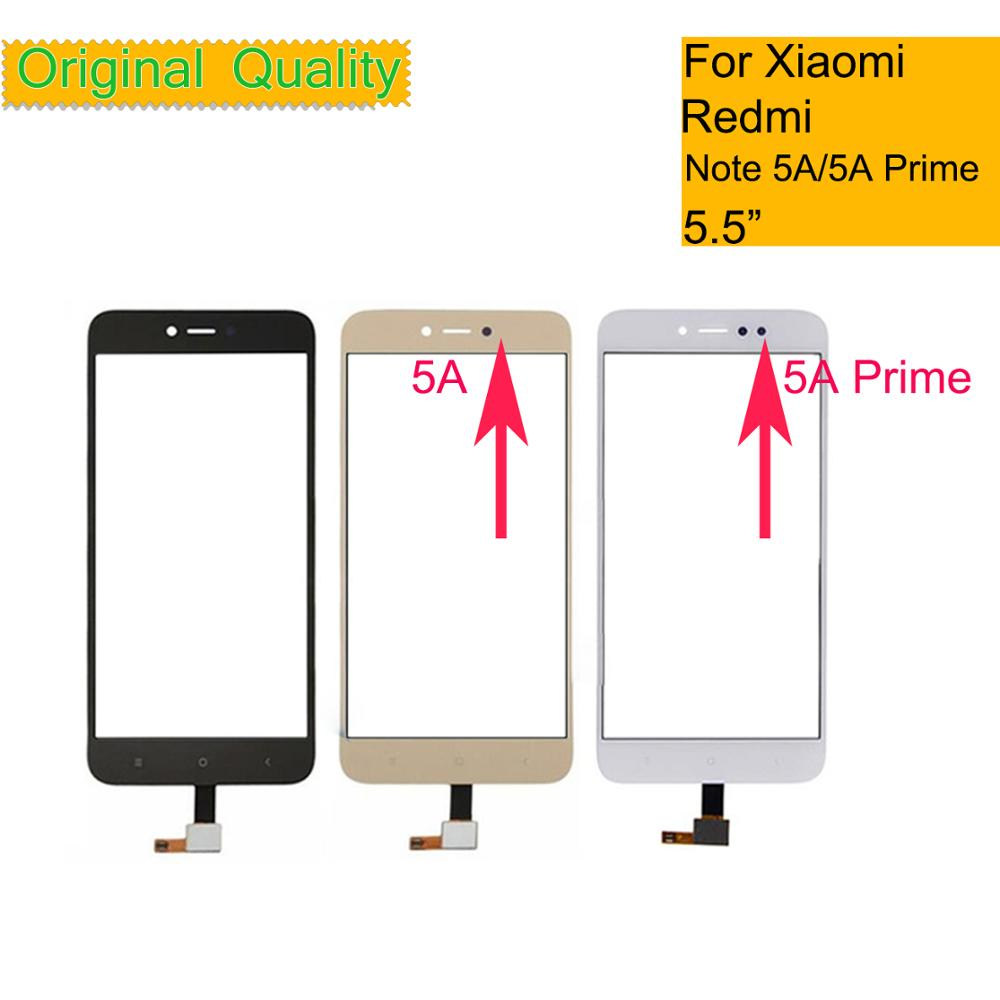 ORIGINAL For Xiaomi Redmi Note 5A Prime Touch Screen Digitizer Touch Panel Sensor Front Outer Glass Note 5A Touchscreen NO LCD