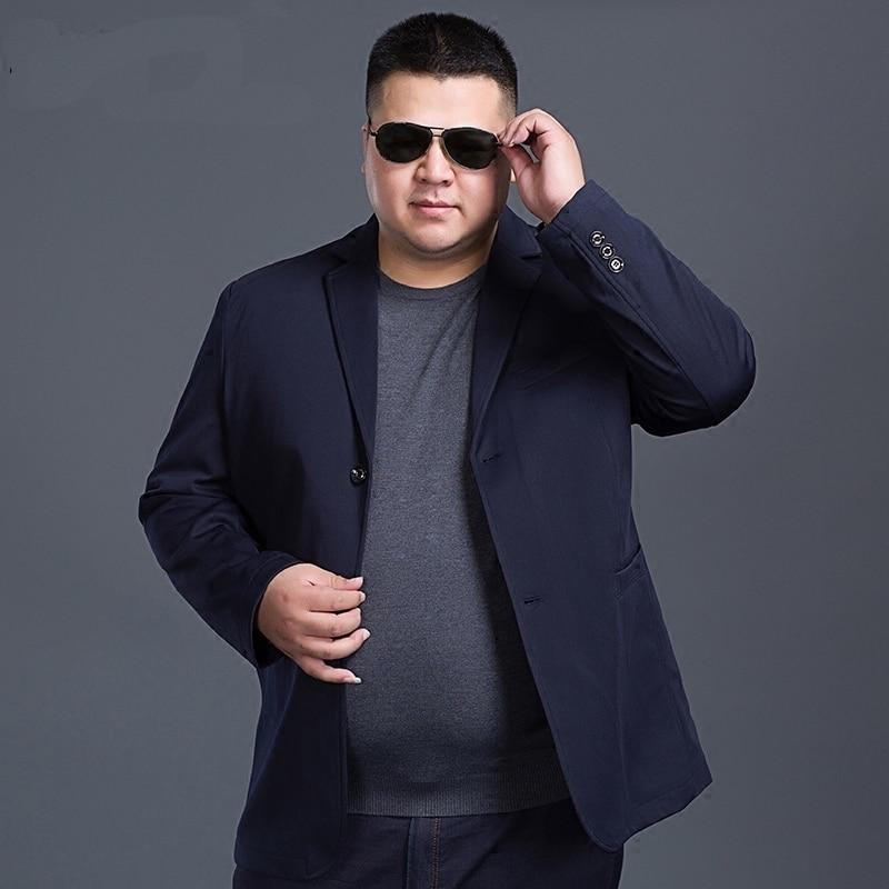 10XL 9XL 8XL 7XL 6XL 5XL Blazer Mens Casual Jacket Solid Color Cotton Men Business Blazer Jacket Classic Mens Suit Jackets