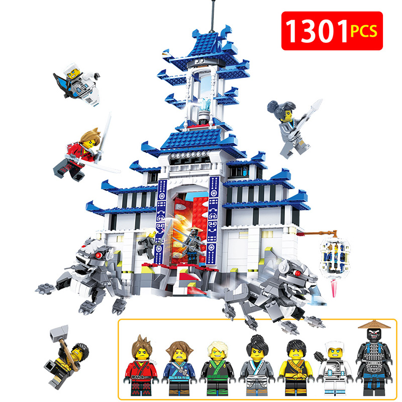 New Technic LegoINGLYS Ninjagoed Movie Temple Weapon House Architecture Palace Building Blocks Fire Mech Bricks for Kid technic mini legoinglys ninjago movie figures temple of the ultimate weapon blocks stone temple lion toys for children