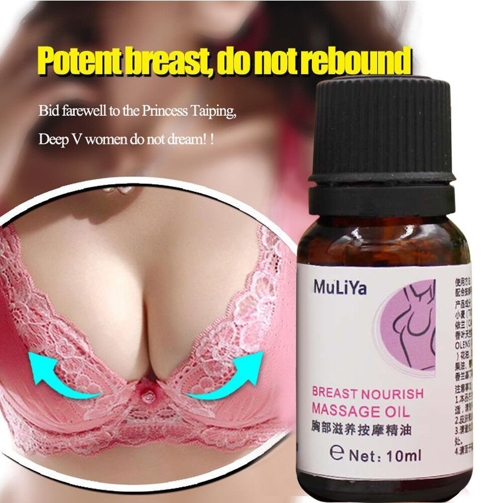 Massage-Oil Enlargement Breast-Nourish Hot Chest Firm Effective Beauty