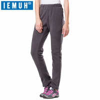 IEMUH Brand M 4XL New Winter Women Warm Gore Tex Pants Outdoor Sports Thermal Fleece Trousers