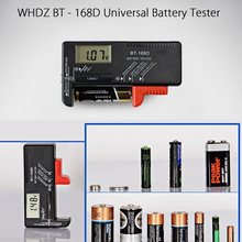 BT-168D Universal Digital Battery Tester LCD AA/AAA/C/D/9V/1.5V Button Cell Battery Voltage Tester Checker