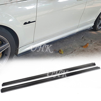 UHK W204 C63 Carbon Fiber Side Skirt Bumper Extension Lip Aprons For C Class C63 Car Accessories Protector Body Kit