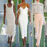 Womens Rompers 2019 Latest Fashion Hot Selling White Jumpsuit Summer Off Shoulder Sexy Jumpsuits Party Womens Clothing Wholesale