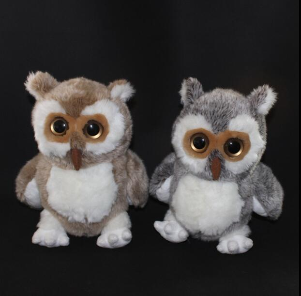 Big Toy Owl  Plush Doll  Children's  Toys Simulation Stuffed Animal Gift 28cm  hot sale 2pcs 18cm super cute night owl plush toy doll baby toys owl stuffed animal doll best gift for kid free shipping
