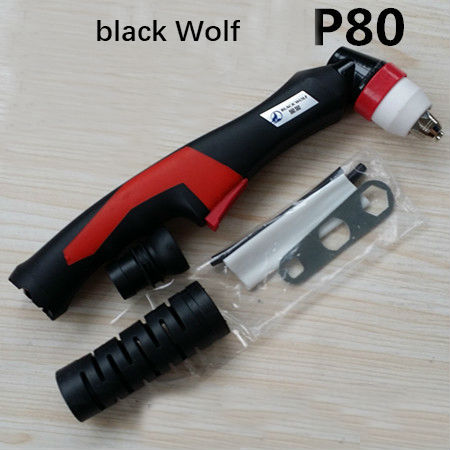 P80 Black Wolf P80 authentic gun head Plasma Cutting Torch Pilot Arc CNC Cutter Plasma Cutting Machine oem trafimet style plasma torch straight a141 torch head air cooled for cnc plasma cutting machine central connector